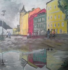 Hauptplatz Lienz nach Regen