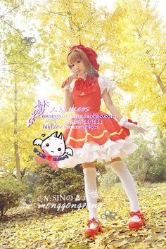 Dream Workshop cos 〖〗 Cardcaptor Sakura Cardcaptor Sakura battle suit of red and white COSPLAY [stock] - Taobao