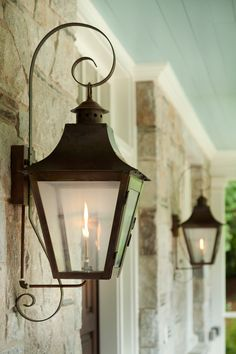 Outdoor lanterns. Outdoor gas lanterns. Lanterns are Gas lanterns by Bevolo. #Bevolo #gaslanterns #outdoorlanterns   T.S. Adams Studio. Interiors by Mary McWilliams from Mary Mac & Co.