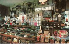 Love this display - may be overkill, but could be nice to find some or create vintage displays