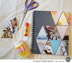 DIY triangle notebook makeover