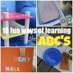 10 fun ways of helping kids learn the abc's #weteach #alphabet