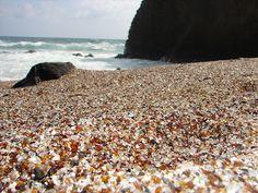Glass Beach in Hanapepe, Kauai, Hawaii