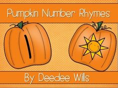 Perfect for fall and pumpkin themes!  Your students can practice number writing and phonemic awareness at the same time!  This is a very simple activity where students match a number to a word that rhymes with it.Numbers 1-6 are included.Put this in your math station or literacy station.