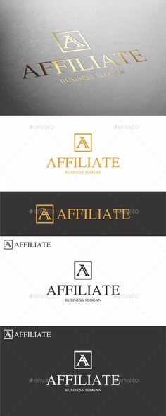 Affiliate A Letter Logo by djjeep Monogram Logo Letter excellent logo template suitable for finance and market related, management and consulting businesse Business Slogans, Business Logo, Cleaning Company Names, Three Letter Logos, Logo Shapes, Portfolio Logo, Name Logo, Clothing Logo, Great Logos