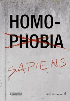 Anti homophobia posters on Behance