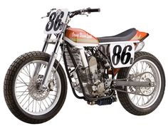 Orange Blossom Special Wood Honda flat tracker as featured in SIDEBURN #3