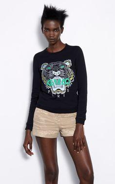 Sweatshirt Tiger, NOIR, KENZO Fringues, Noir, Kenzo Vêtements, Les Pulls  Molletonnés f59a8f7c59a