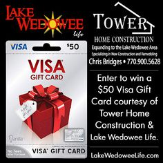 Lake Wedowee Life Contest: Enter to win a 50 dollar Visa Gift Card from Tower Home Construction