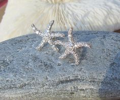 Small Tiffany Style Sterling Starfish Studs with by JemsbyJoan, $22.50