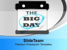 The Big Day Hanging Wall Calendar Powerpoint Templates Ppt Backgrounds For Slides 0113 #PowerPoint #Templates #Themes #Background