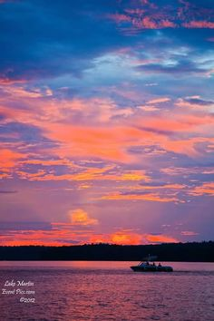 Sunset on Lake Martin AL