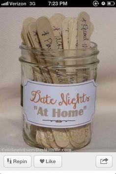 Date night ideas at bridal shower
