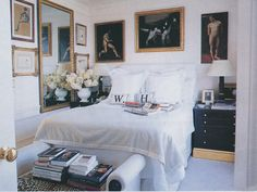 The Peak of Chic® A beautiful, airy bedroom.  The coziness yet openness of the space is something I would like to emulate.