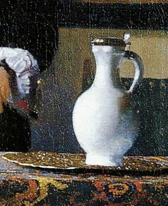 Vermeer, The music lesson (detail) 1662