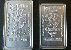 5 gram + 1/10 oz 999 Fine Pure Solid Silver Bar by Bullion Bank  Silver Bar bu