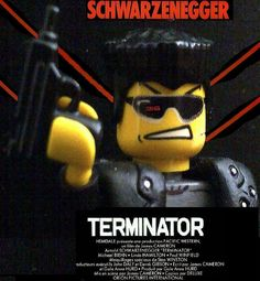 lego terminator poster   Flickr - Photo Sharing! Lego Film, Lego Tv, Lego Movie, James Cameron, Cool Lego, Cool Toys, Lego Terminator, Horror Posters, Film Posters
