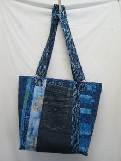 From Weirwood Station, Jeans Upcycle, free tutorial.