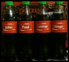 Share a Coke with The Beatles Beatles Love, Beatles Art, Rock Roll, Great Bands, Cool Bands, Coca Cola, The Fab Four, Ringo Starr, George Harrison