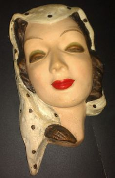 Wall mask 1930 1940 plaster
