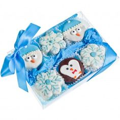 Let it snow with Lady Fortunes Winter Gift Box of 6 Brownies, available at the Food Network Store