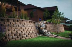 Retaining Walls Installation and Design by Wilson Landscape Construction, a Designer and Installer of Retaining Walls, throughout greater Pittsburgh, PA. Legacy Collection, Wall Installation, Stone Cuts, Diamond Stone, Backyard Landscaping, Construction, Patio, Landscape, Outdoor Decor