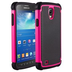 Pink Rugged Silicone Armor Hard Impact Case Cover for Samsung Galaxy S4 Active