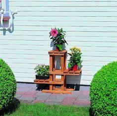 Support pots de fleurs Décines - Pin massif