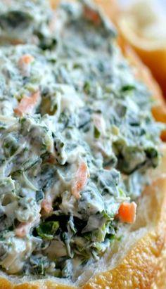 Spinach Dip - Healthier version using Greek yogurt