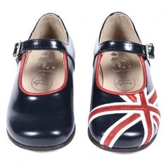 union jack mary janes! i love that the designer resisted making the design a mirror image on each shoe...