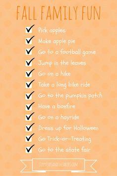 Fall fun checklist for the family
