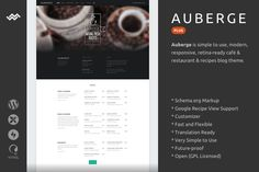 Auberge Plus | WordPress Theme by WebMan Design on @creativemarket
