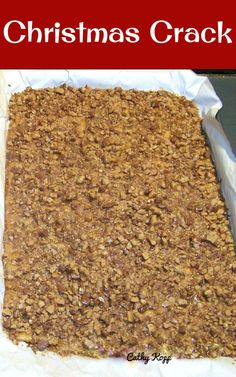 Christmas Crack. If you've never tried this you're missing out! Really easy recipe and always a hit at home!   Lovefoodies.com