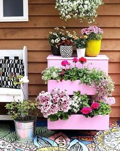 Does your backyard need a revamp? Choose from many backyard ideas and activities you can create for a spectacular summer experience. Flower Planters, Garden Planters, Flower Pots, Flowers, Garden Junk, Garden Art, Garden Design, Gazebos Ideas, Garden Drawing