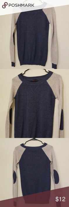 """Forever 21 Sweater Blouse Forever 21 blouse Long Sleeved Like new no rips stains or tears  Blue and Gray  Armpit to armpit measures 16""""-18"""" Total length is 25"""" Arm length is 24"""" 60% Cotton  40% Acrylic Forever 21 Tops Blouses"""