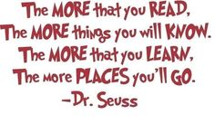 Oh The Place You'll Go - Dr. Seuss Quote - Vinyl Wall Decal