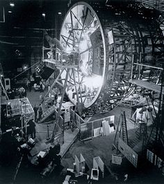 """The centrifuge set for some of the interior shots of """"2001:a Space Odyssey""""."""