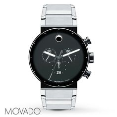 Movado Mens Watch Sapphire Synergy 0606800. Available at Jared Galleria of Jewelry.