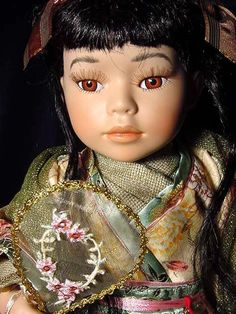 Gorgeous Ashley Belle Large Collectible Doll Asian Oriental Chinese Bisque Porcelain Artisan