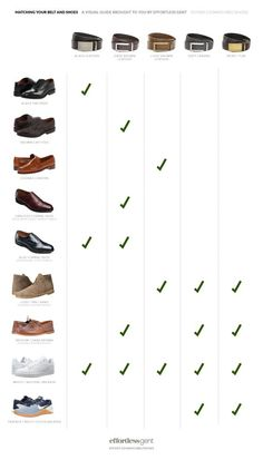 How to Match Your Belt and Shoes: A Definitive, Visual Guide · Effortless Gent