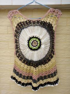 Summer Beach Cover Up Crochet Lace Sheer por Tinacrochetstudio