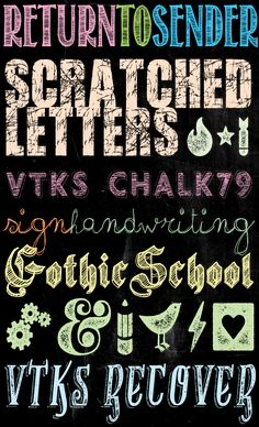Tons of Free Chalkboard Fonts and Dingbats!