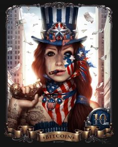 Patriot - The is fine art that stores digital currency.