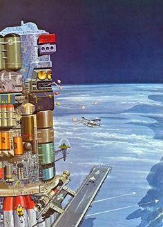 Vintage science fiction art, pulps, paperbacks and Art Science Fiction, Pulp Fiction, Retro Kunst, Retro Art, Trippy, Sci Fi Kunst, Sci Fi City, 70s Sci Fi Art, Arte Tribal