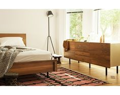Lit en Teck Recyclé | EQ3 meubles moderne