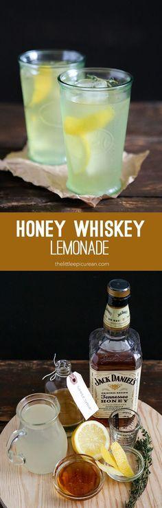 Honey Whiskey Lemonade #cocktaildrinks #vodkadrinks