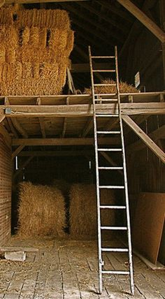 .spent time every summer putting haybales in our barn much like this one when I was growing up