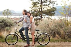The Loveliest Day: Christine + Mike's Breathtaking Bicycle Engagement Session...