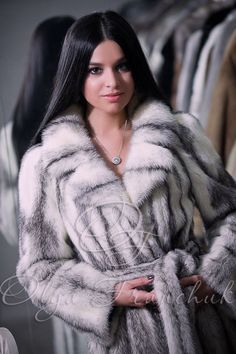 Silver Cross Scandinavian Mink Coat with English Collar - Style 01-10 from Olga Franchuk. ($1800)