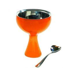 miriam mirri: #orange big love ice cream bowl and spoon